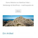 2 - WordPress 3.5 - Twenty Twelve Theme - mobile Ansicht