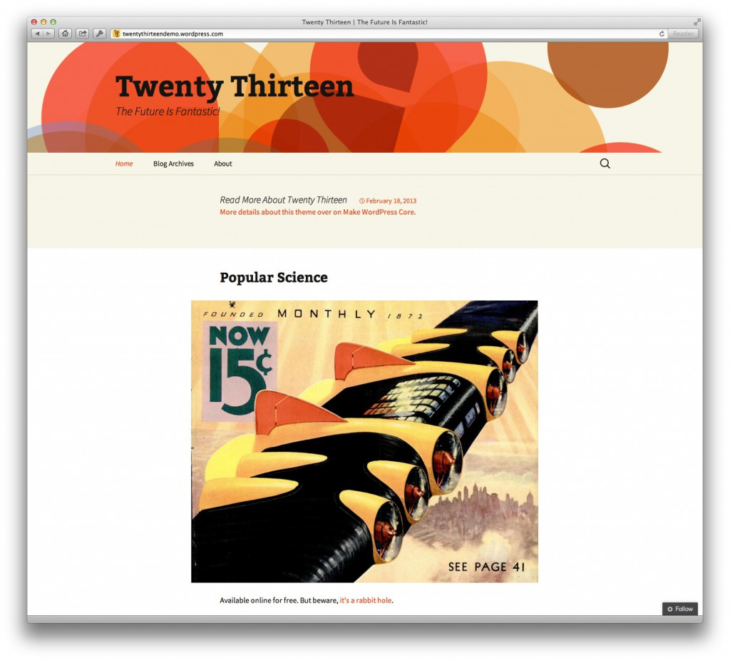 http://twentythirteendemo.wordpress.com/