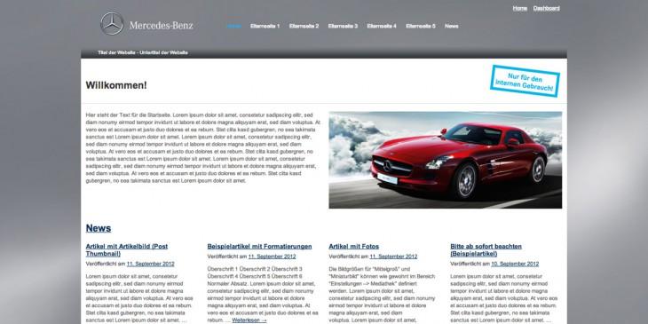 WordPress-Theme für die Mercedes-Benz AG