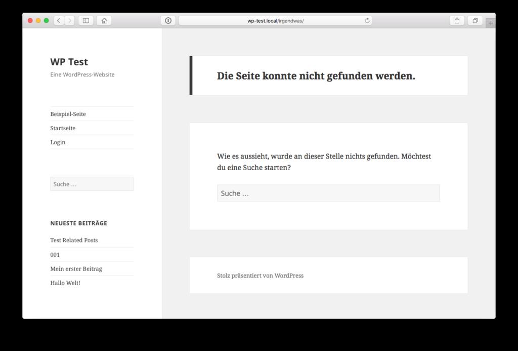 Standard-404-Seite von WordPress