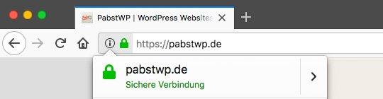 pabstwp.de mit sicherer Verbindung via HTTPS